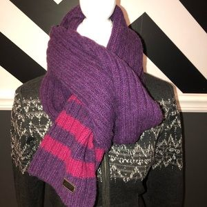 Coach - Large 100% Wool Scarf - Purple and Pink